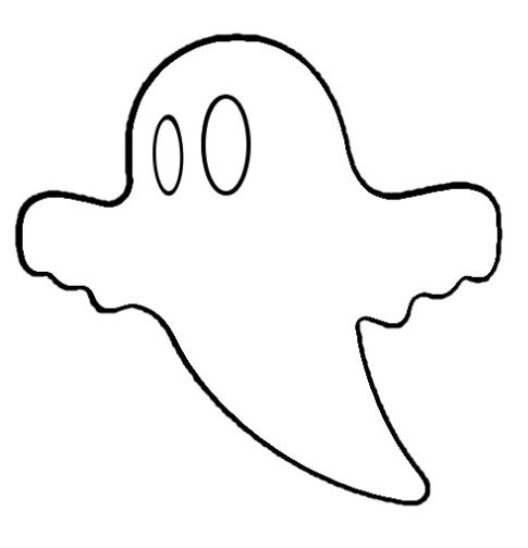 ghost cutout halloween
