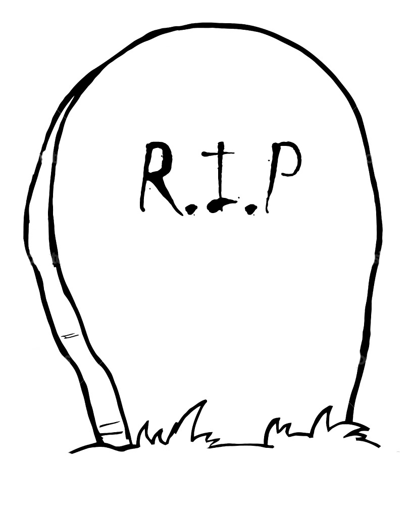 tombstone rip cutout halloween