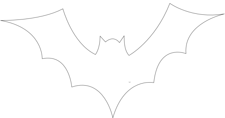 bat cutout halloween