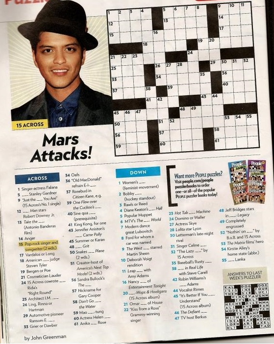 picture relating to People Magazine Crossword Printable referred to as Us residents Journal Crosswords