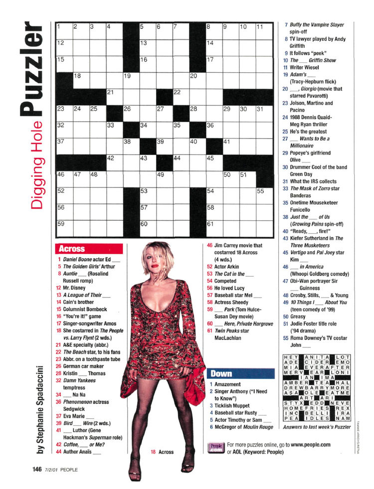 graphic about People Magazine Crossword Printable known as Human beings Journal Crosswords