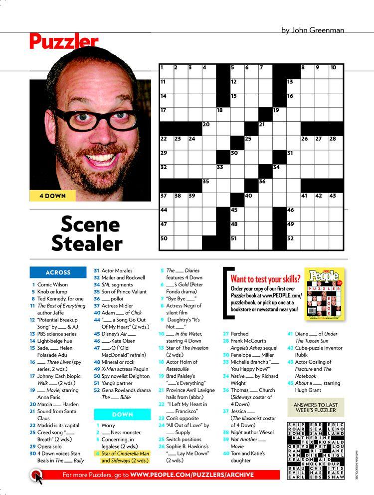 image regarding People Magazine Crossword Printable identify People today Journal Crosswords