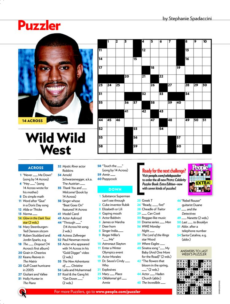 picture about People Magazine Crossword Printable identified as People in america Journal Crosswords