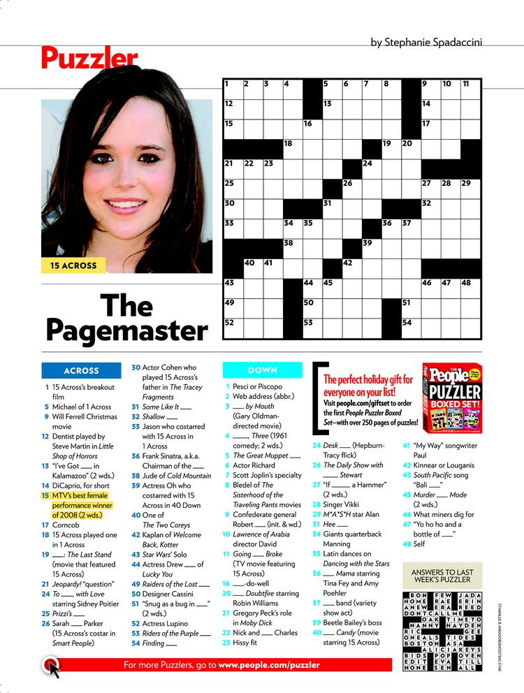 picture regarding Star Magazine Crossword Puzzles Printable identified as All those puzzle Phrase paper Pattern - September 2019 - 2206 words and phrases