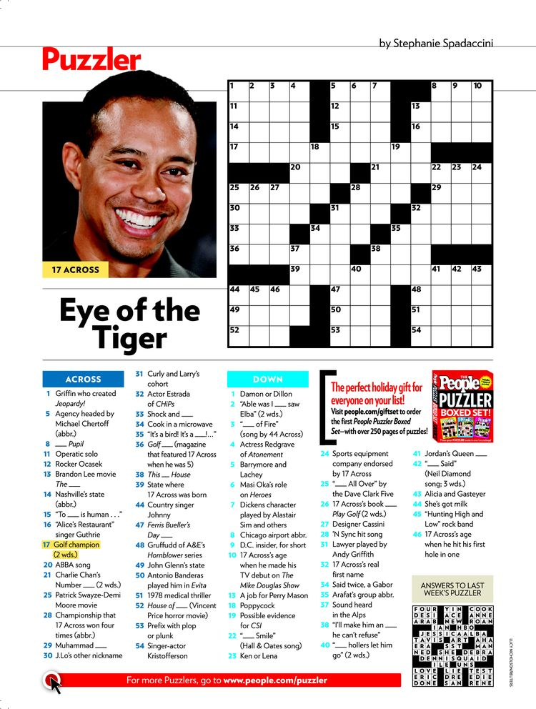 Universal image with regard to people magazine crossword printable