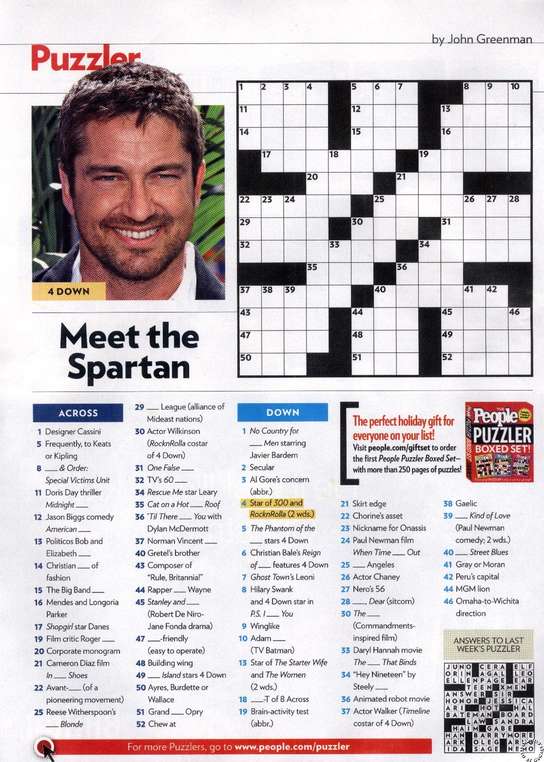 picture relating to Star Magazine Crossword Puzzles Printable referred to as These Journal Crosswords