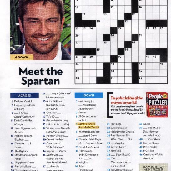help finding printable online celebrity gossip crossword ...