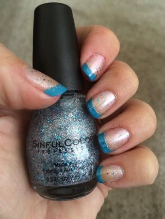 Blue Tip Nail Polish