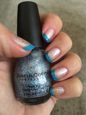 Blue Tip Nail Polish
