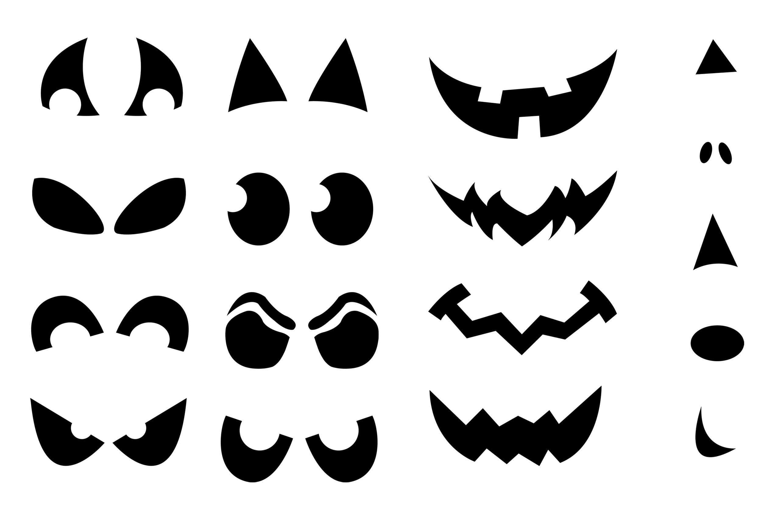 Printable pumpkin carving cutouts for halloween - Printable halloween decorations ...