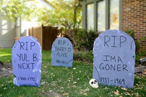 how to make tombstones easy halloween diy