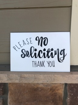 no soliciting sign (2)